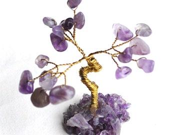 Miniature Amethyst Gemstones Crystal Tree
