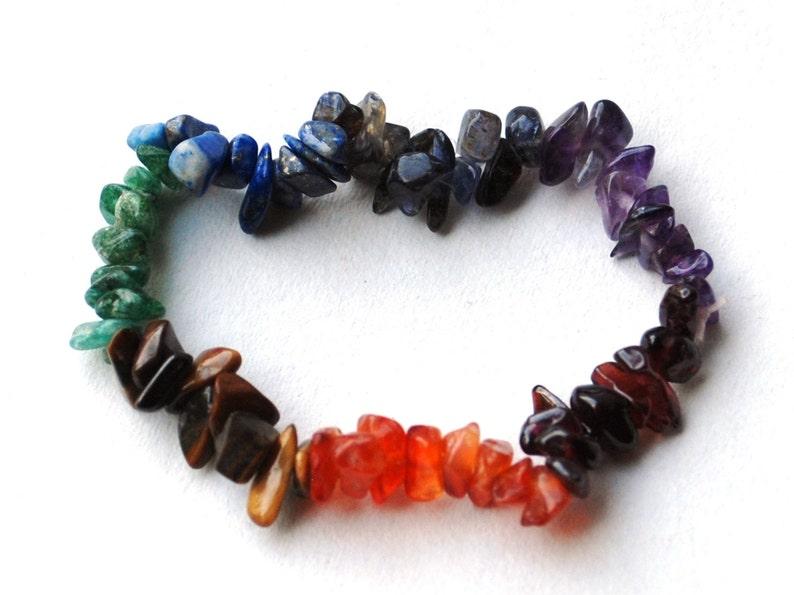 Chakra Crystal Chip Bracelet Chakra Balancing
