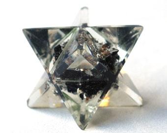 Black Tourmline Crystal Chakra Orgone Merkaba Star Gift - Stone of Protection