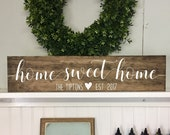 Home Sweet Home sign, Wood Home Sign, Housewarming Gift, House Sign, Wedding Gift, New Home Gift, Realtor gift for client