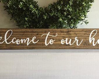 Welcome Home Sign Etsy