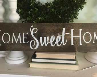 home sweet home sign, home sweet home, family name sign, established wood sign, wooden sign, rustic family sign, new home date, farmhouse