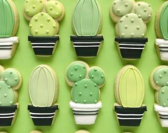 Cactus Sugar Cookies
