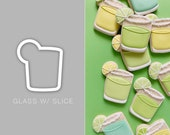 Glass with Slice Cookie Cutter