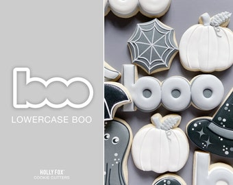 Lowercase BOO Cookie Cutter