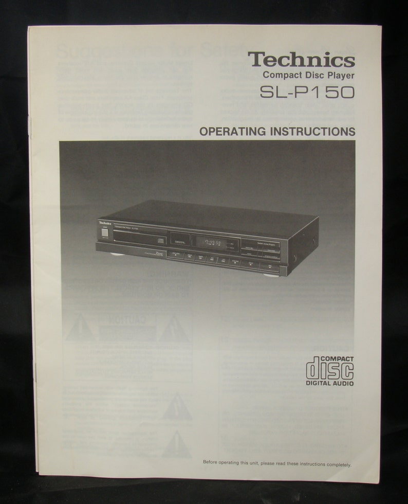 Technics User Manuals