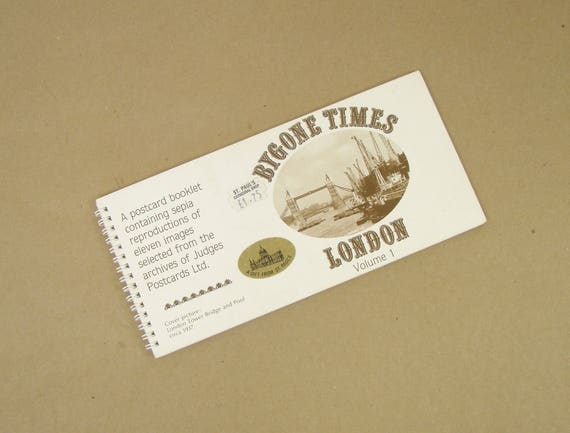 BYGONE TIMES LONDON Volume 1 Antique Photos of London and Area Vintage Postcard Booklet Free Shipping