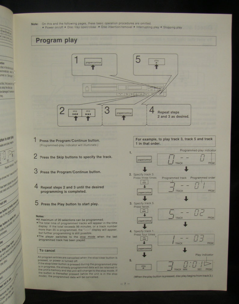 Set of Vintage Technics SL-P150 CD Player Operating Manuals English &  French - Free Shipping