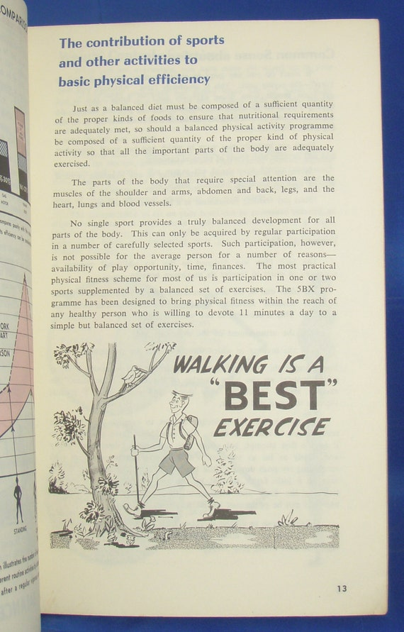 1960s Royal Canadian Air Force 5bx Plan For Physical Fitness Etsy