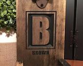 Personalized Beer Bottle Opener, Groomsmen Gift, Rustic Engraved Beer Bottle Opener, Cap Catcher, Wedding, Gift Ideas, Man Cave