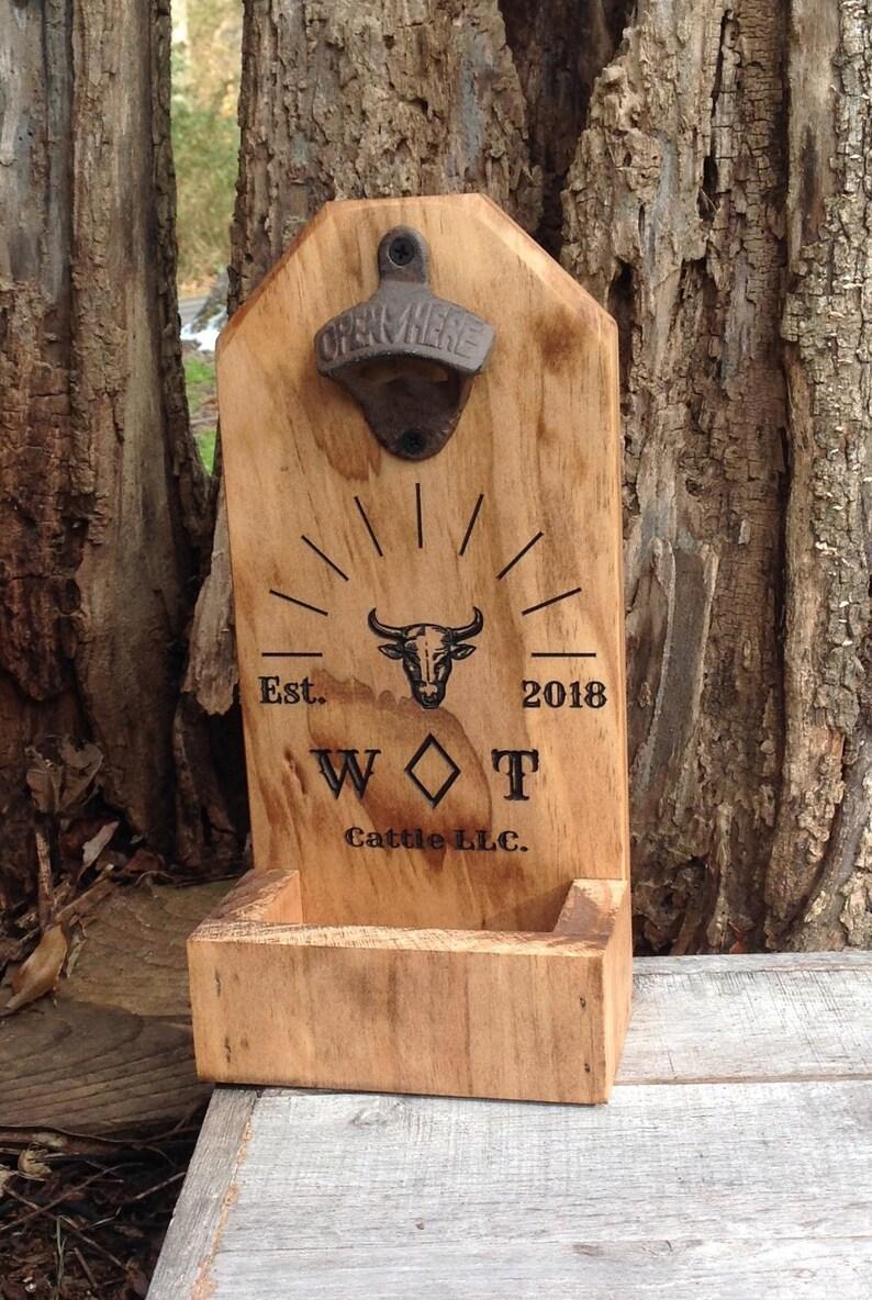 Personalised Wooden Bottle Opener Bottle Cap Opener Groomsmen Gift Best Man Gift Birthday Gift Wedding Gift