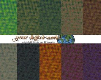 Printable Digital Scrapbook Lizard Skin Paper Reptile Snake Frog Dinosaur Scales 10 color ways large scale