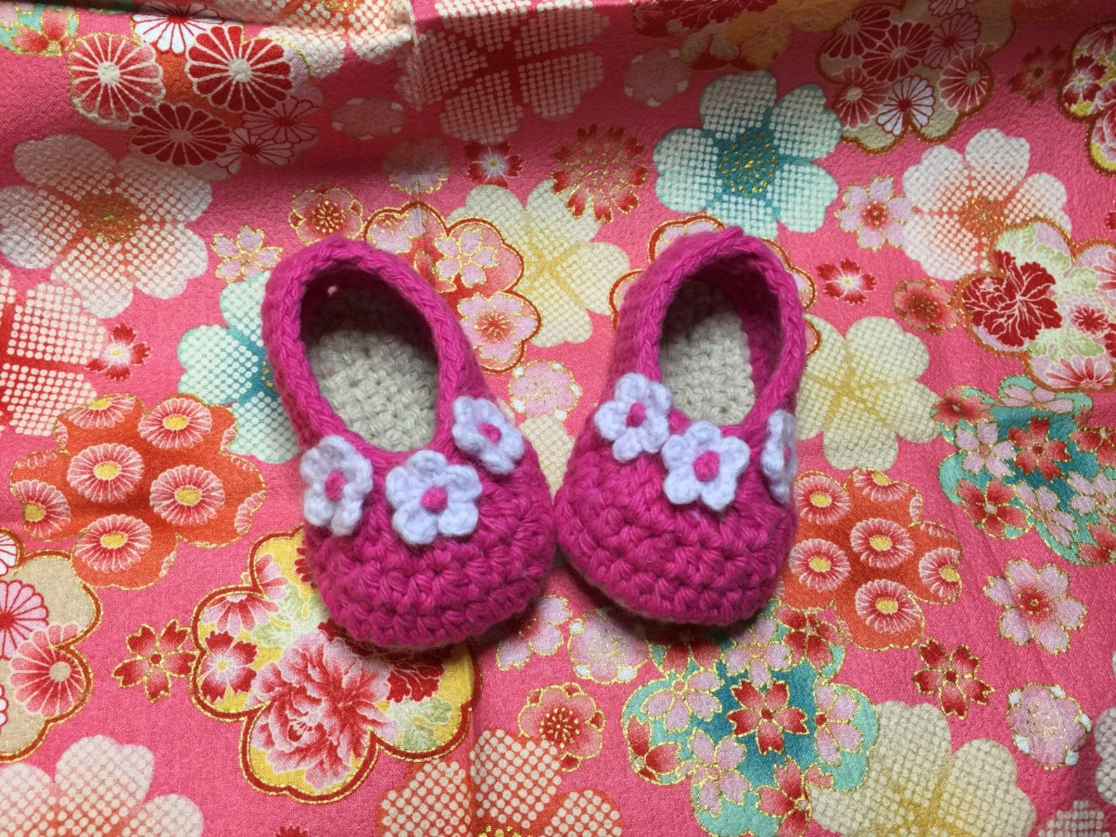 baby ballet shoes crochet pattern