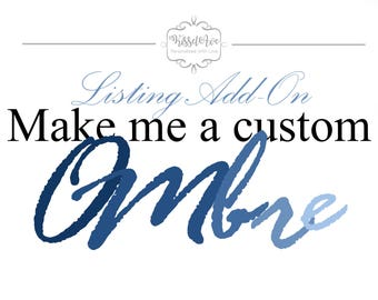 Listing Add-on Make Me A Custom Ombre Picture Frame