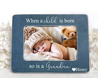 New Grandma Gift Picture Frame When A Child Is Born So Personalized Grandparent