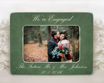 Were Engaged Frame Etsy