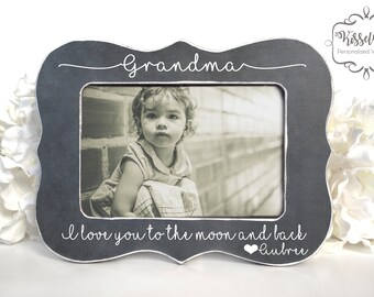 I Love You To The Moon And Back Frame Etsy