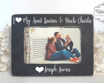 Personalized Aunt Auntie Uncle Picture Photo Frame Etsy