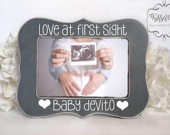 Ultrasound Frame Ultrasound Gift Pregnancy Gift Pregnancy Picture Frame Baby Gift Love at First Sight 4x6 Picture Frame