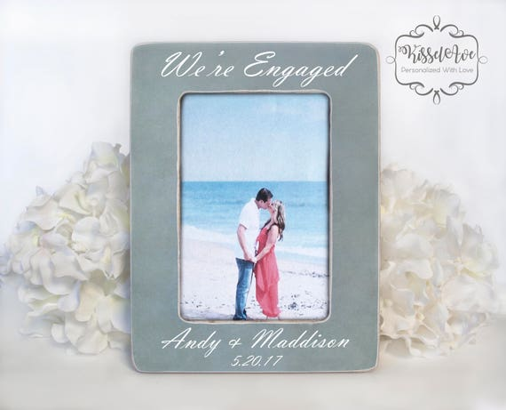 Engagement Gift Engagement Picture Frame Verticle Engagement Etsy