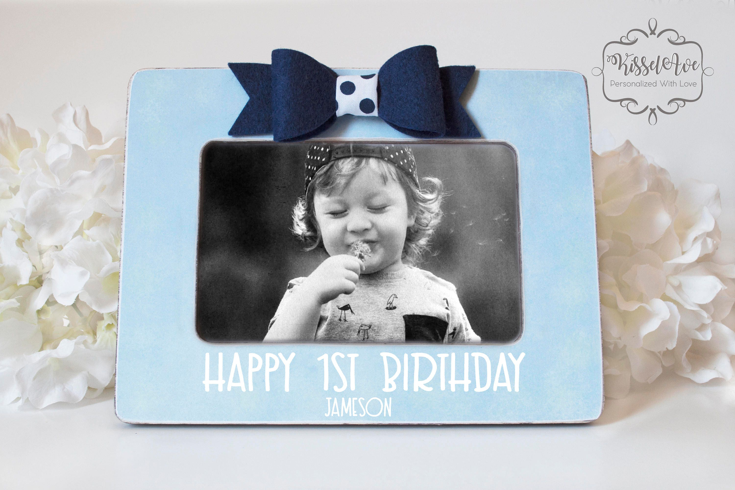 Baby\'s First Birthday Picture Baby Gift Personalized Picture Frame ...