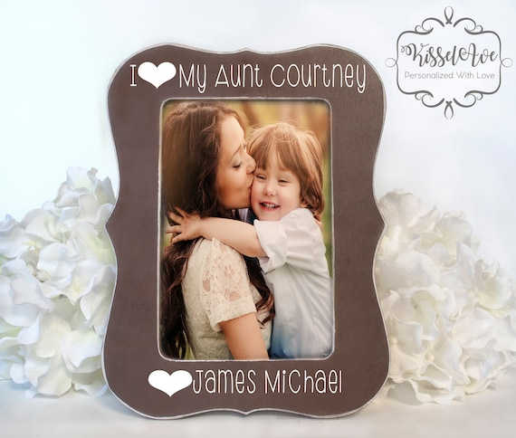 Gift for Aunt Picture Frame for Aunt Present for Aunt I Love My Aunt Gift Personalized Picture Frame 4 x 6 Opening
