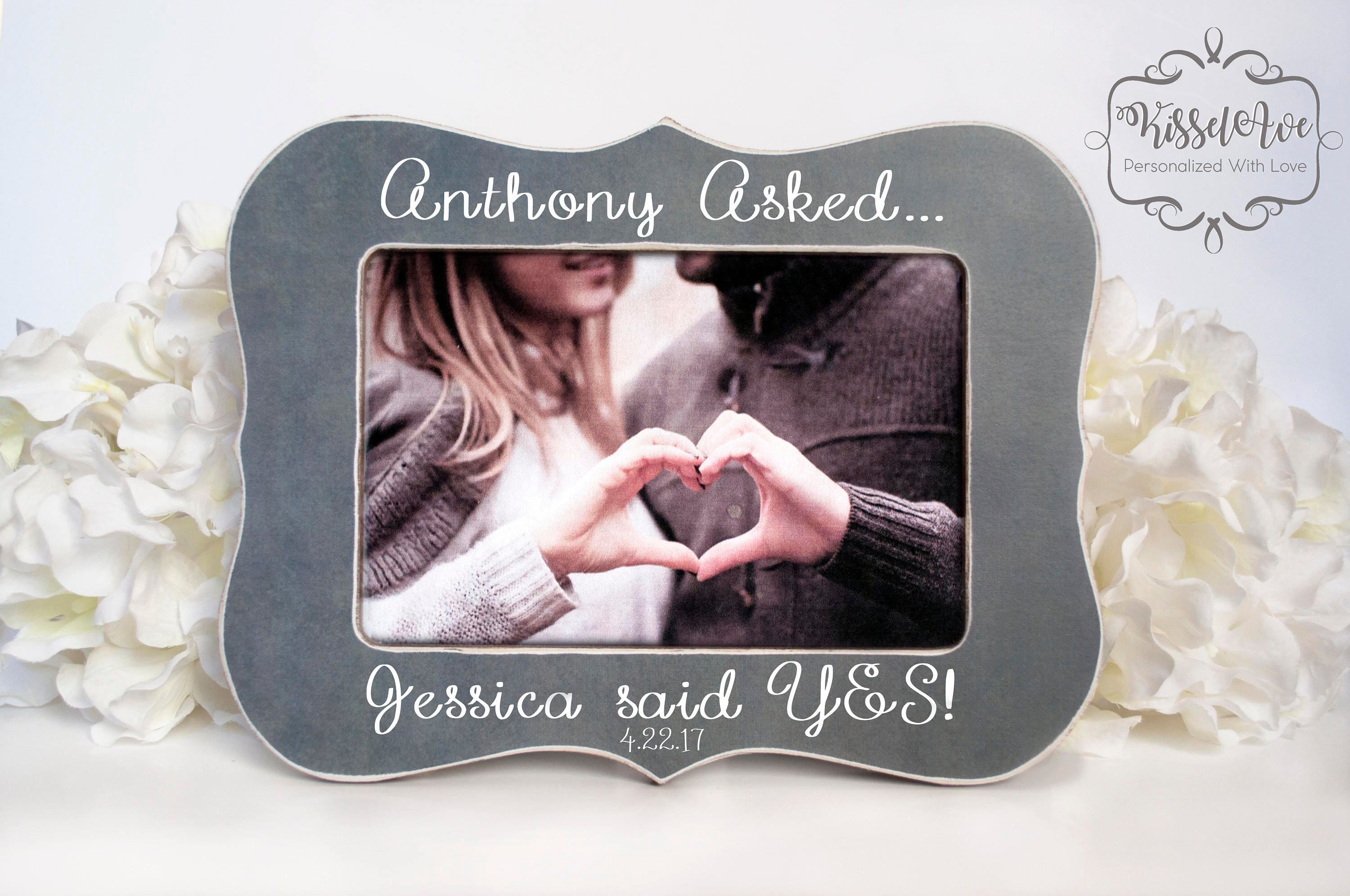 She Said Yes Engagement Gift He Asked She Said Yes Etsy