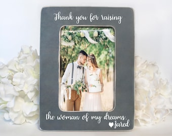 Thank You For Raising The Woman of My Dreams Parents of the Bride Gift from Groom Wedding Gift to Parents of the Bride Thank You Gift 4x6