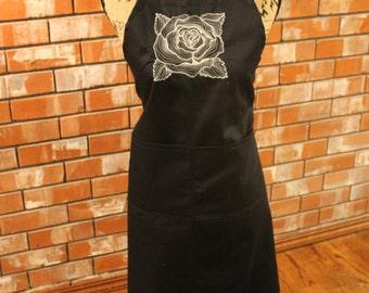 Rose Apron (Black)