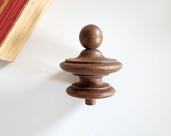 Antique Wood Finial End Architectural Salvage French Furniture Etsy