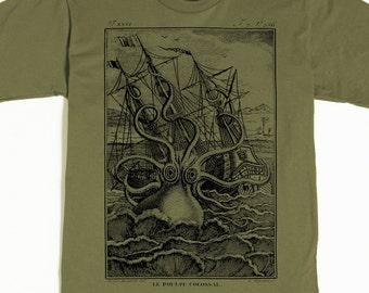 Octopus Shirt - Men's Octopus T-shirt - Kraken Tshirt - Pirate Graphic tee - Men's Graphic Tee