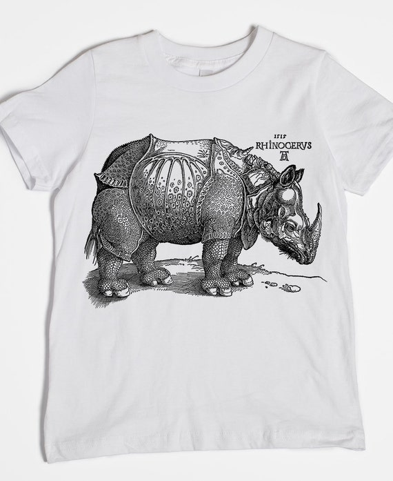 Design By Humans Ornate Rino Boys Youth Graphic T Shirt