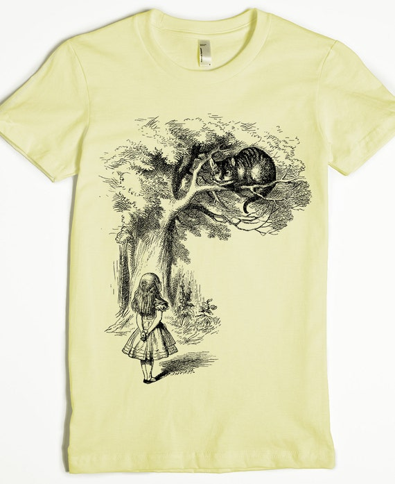 Alice au pays des merveilles T-shirt fantasy Hatter tee top hommes femmes