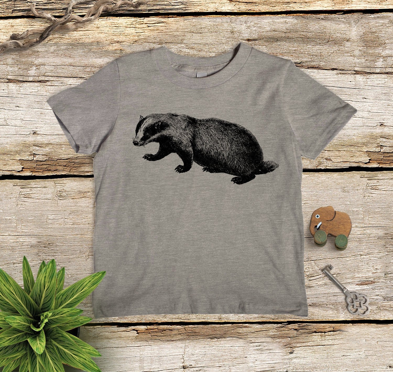 832efa0bdfd02 Kids' Badger Shirt, Animal Tshirt, Children's Gift, Animal Shirt for Kids,  Badger Shirt, Boys' Shirt, Boys' Gift Present Fun