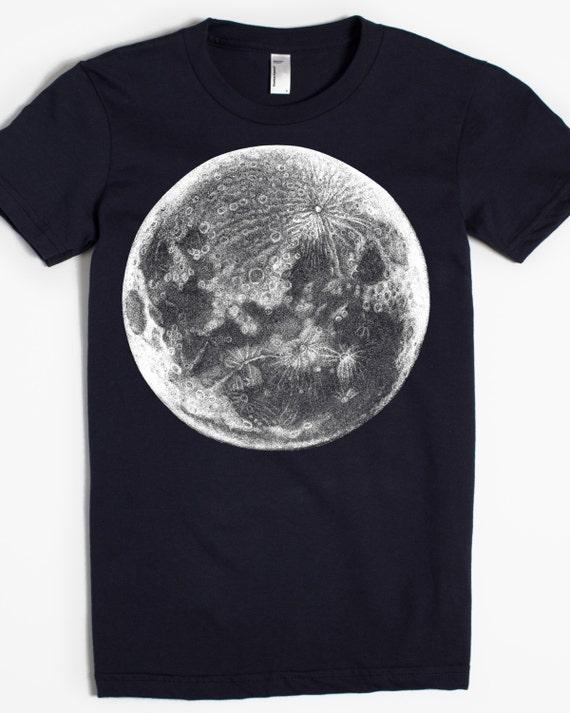8956ce260ac5 Moon T-shirt Graphic Tee for Women Women's shirt | Etsy