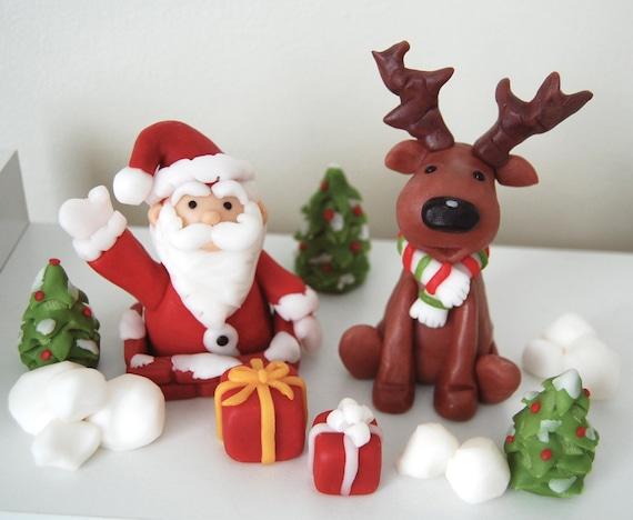 Fondant Christmas Cake Decorations   Etsy