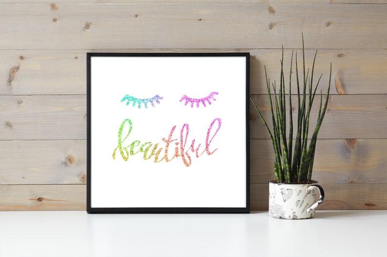 Rainbow Ink Eyelash Quote Beautiful Eyelash Extensions image 0