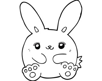 Cute Bunny with Eyelashes, Cartoon Rabbit with Lashes, Nursery, Girl Room, Eyelash Extensions, Easter Social Media Posts, Instant Download