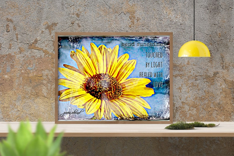 Farmhouse Decor Inspirational Poster Touched by Light image 0