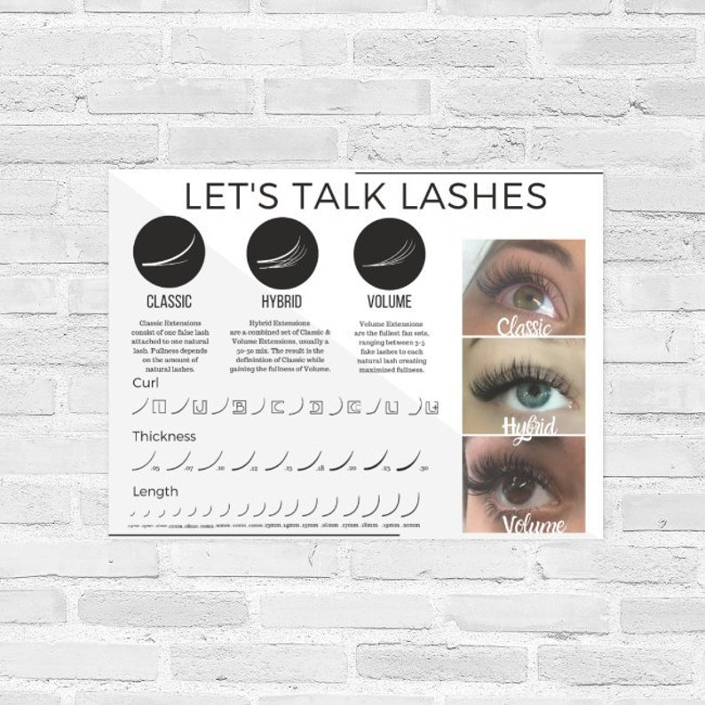 Eyelash Curl Length Thickness Poster for Classic Hybrid & image 0