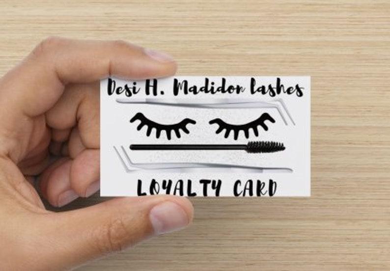 Eyelash Extension Loyalty Cards Eyelash Business Cards image 0