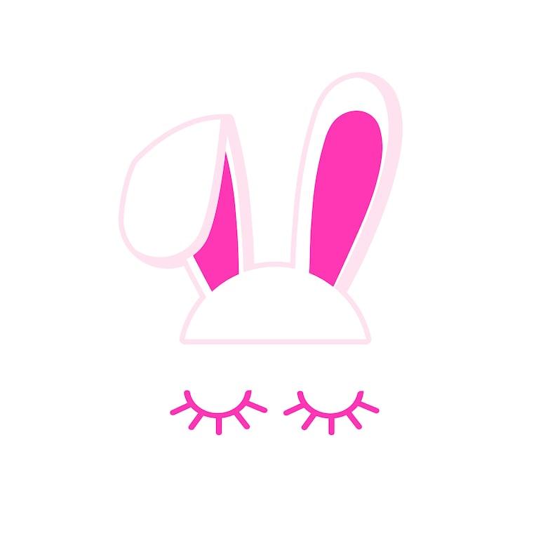 Cartoon Rabbit with Lashes Nursery Girl Room Eyelash image 0