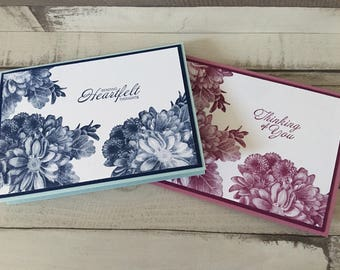 Heartfelt thoughts / thinking of you floral card
