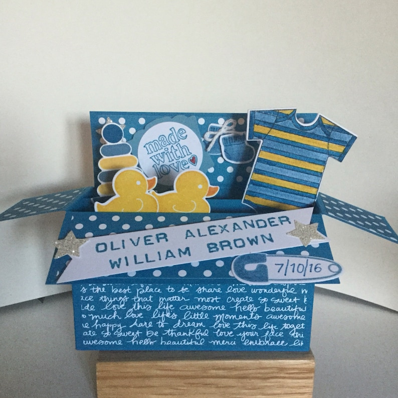 Pop up Baby card birth congratulations