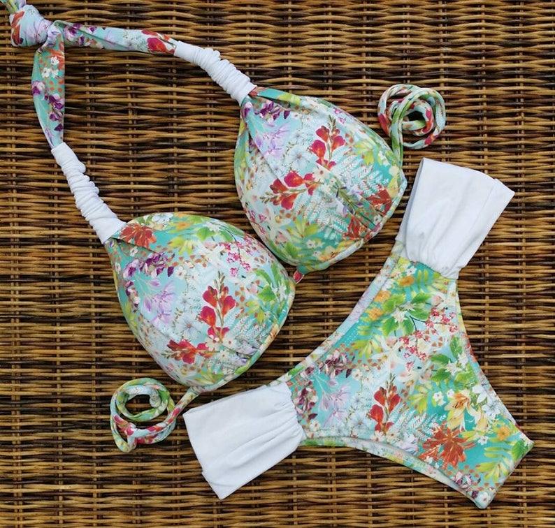 29f525ac7e Brazilian cut bikini set/scrunched bottom/padded top/cheeky | Etsy