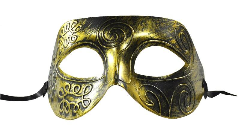 Rustic Swirl Masquerade Mask  Gold