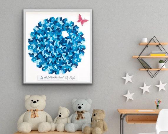 Life Circle paper Butterflies, Fly High , Butterflies circle, inspirational Art