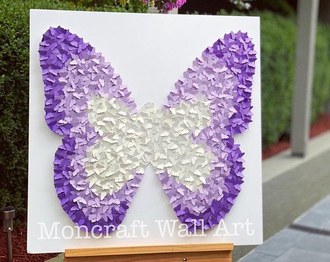 Featured listing image: Butterfly Wall Art  Decor - 30 Inch Paper butterflies - Kids and girls Modern Room Decor