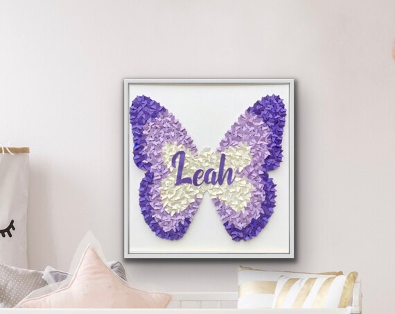 Butterfly Wall Art  Decor - 30 Inch Paper butterflies - Kids and girls Modern Room Decor