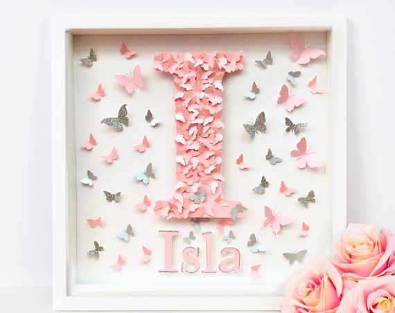 Butterflies Letters, personalised name Alphabet nursery letter wall art, Alphabet Butterflies letter , letter decor , letter art ,  , Alphab